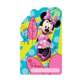 Tarjetas  invitacion x8 Minnie Bow