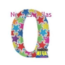 Globo Números Metalizado Estampado 40pulg XL