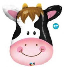 Globo Vaca Feliz metalizado XL