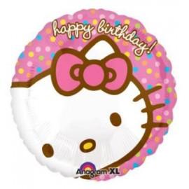 Globo Hello Kitty Happy Birthday 18pulg