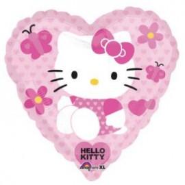 Globo Hello Kitty Corazón 32pulg ( 81 cms)