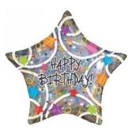 Globo Happy Birthday Estrellas XL