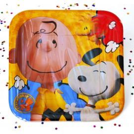 Platos Snoopy 9pulg x8 Cuadrado Importado