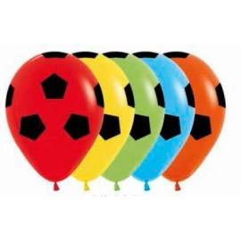 Globos Fútbol Latex R-12 x12 Colores Surtidos Sempertex