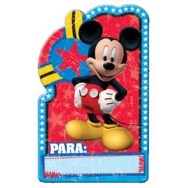 Tarjetas invitación Mickey x8