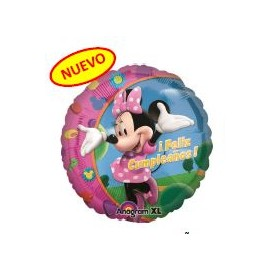 Globo 18pulg Minnie Feliz Cumpleaños