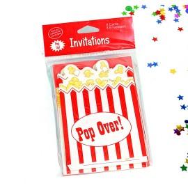Tarjeta Invitación Hollywood x8