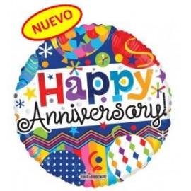 Globo 18pulg Feliz Aniversario