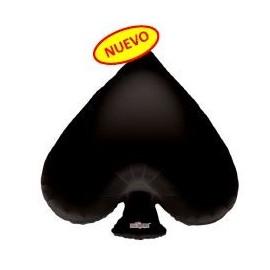 Globo 36pulg XL Poker Corazón Negro
