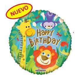 Globo 18pulg  Cumpleaños Jungla