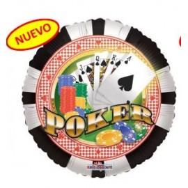 Globo 18pulg Póker