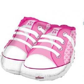 Globo metalizado 18SHP  Baby Shower Zapato Rosado