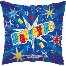 Globo metalizado 18pulg Bienvenido Estrellas