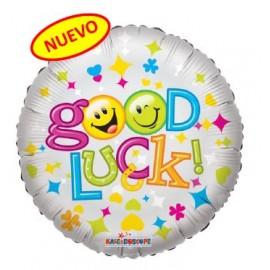 Globo metalizado 18pulg Good Luck Smiles
