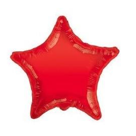 Globo 22pulg Estrella Roja Sólido