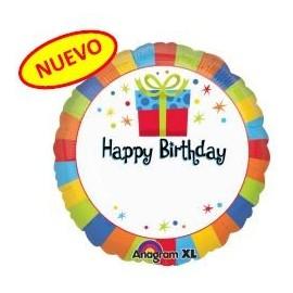 Globo 18pulg Feliz Cumpleaños personalizado