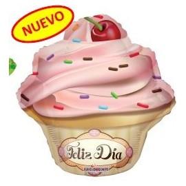 Globo 20pulg Feliz dia Cupcake