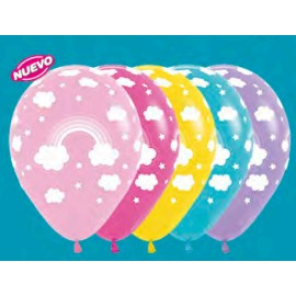 Globos Arco Iris latex R 12 x12 Sempertex