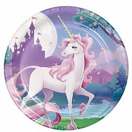 Platos Unicornio x8 importado
