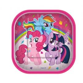 Platos My Little Pony x8 Sempertex