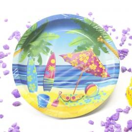 Platos Beach Party 9pulg x6