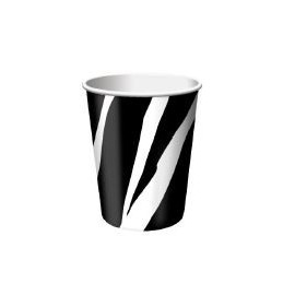 Vasos Zebra 9oz x8