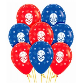 Globos Latex Spiderman R-12 x10 Fashion Surtido Sempertex