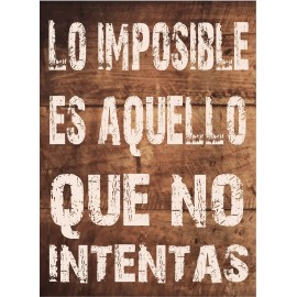 Cuadro Frase Imposible