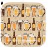 Platos Cerveza 7 pulg. x8 Cuadrado Importado