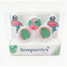 Velas Flamingo x5 Sempertex