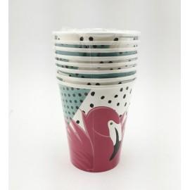 Vasos Flamingo x8 Sempertex
