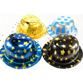 Sombrero copa redonda metalizado
