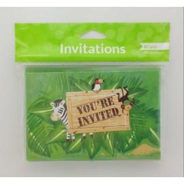 Tarjetas Invitación Safari X8