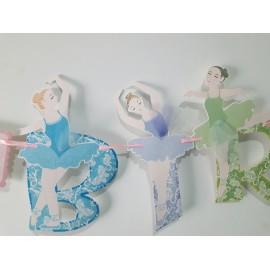 Banner Bailarina Happy Birthday