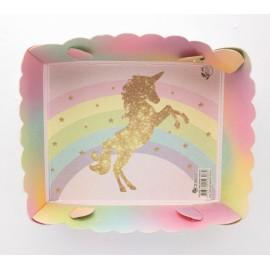 Torteras Unicornio Dorado X8