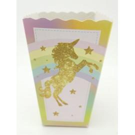Crispetera Unicornio Dorado X6