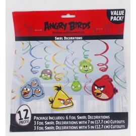Colgantes Angry Birds x12