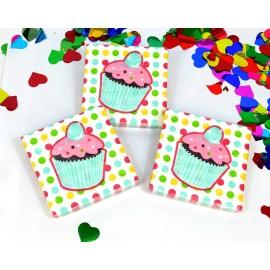 Servilletas Cupcake x16