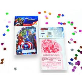 Tarjetas Invitación Avengers x8 Ronda